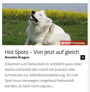 """Wuff""-Artikel über Hot Spots"