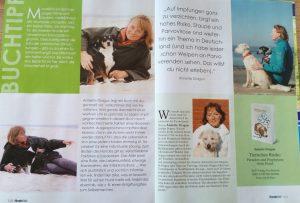 Doppelseite der Zeitschrift Hundewelt